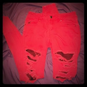 Pants with tights stitched in